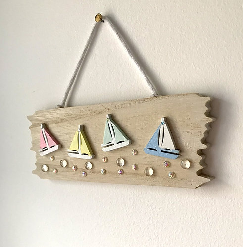 Driftwood Sailing Boat Wall Hanging - Primary