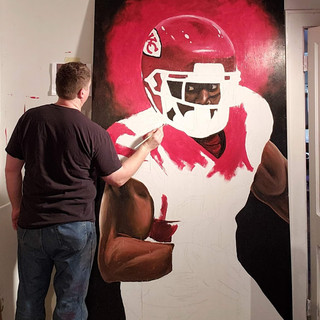 Painting Tyreek Hill