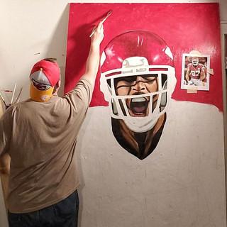 Painting Travis Kelce
