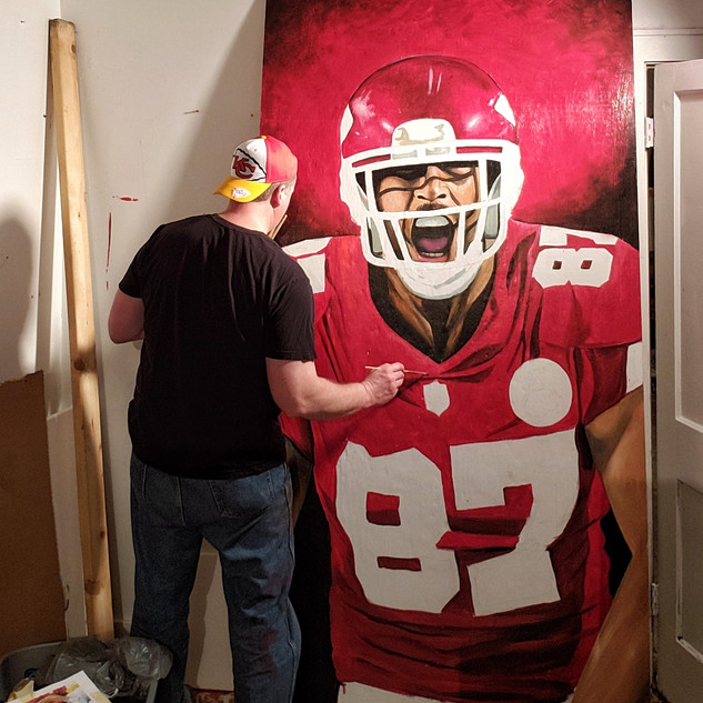 Travis Kelce almost done