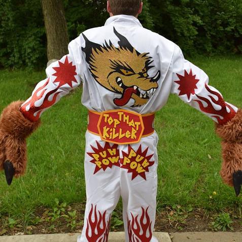 Back of the Jackyl Rockfest costume