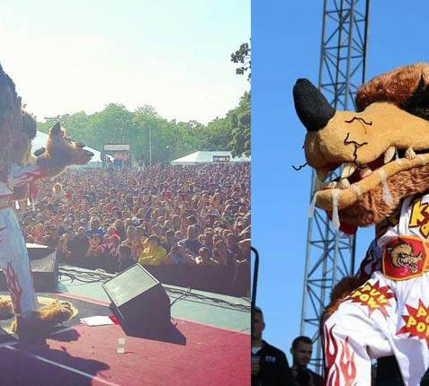 Me in the Jackyl costume in front of 30,000 People