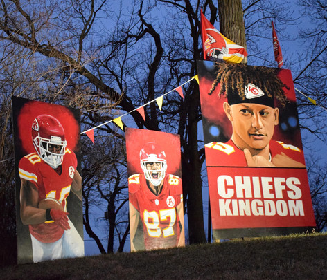 Chiefs in the Front Yard