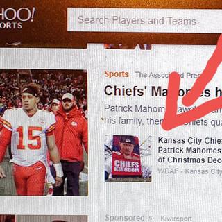 I made it on Yahoo