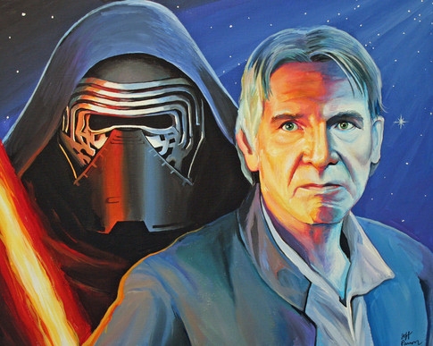 Kylo Ren and Han Solo
