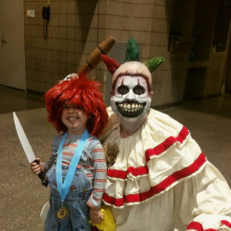 Chuckie and Twisty at Comic-Con