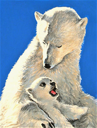 8 x 10 Polar Bears