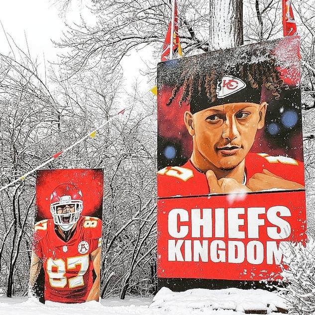 Chiefs kingdom in the snow