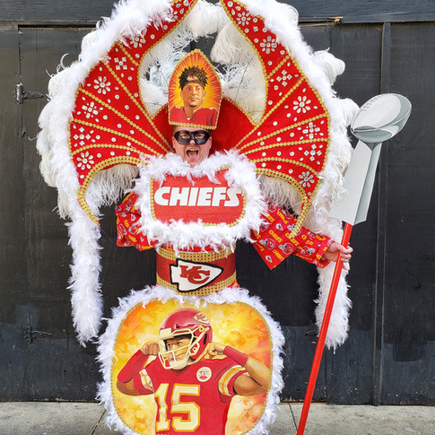 My Mardi Gras Chiefs costume