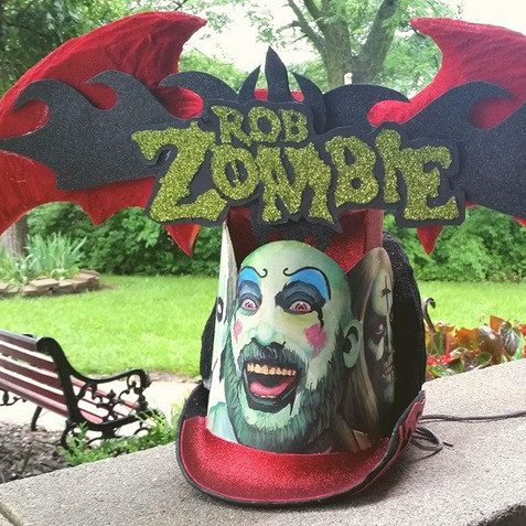 Back of the Rob Zombie hat