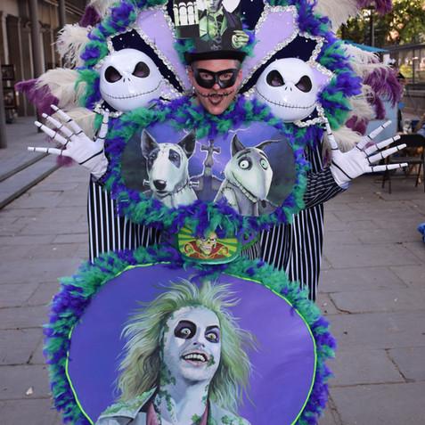 Tim Burton tribute Mardi Gras costume