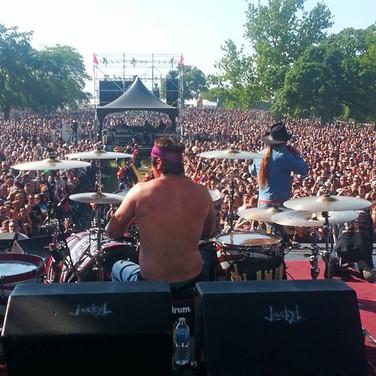 Backstage at Rockfest