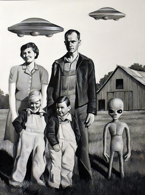 Grandma, Granpa, My Uncle and Dad During the Alien Invasion of 1943