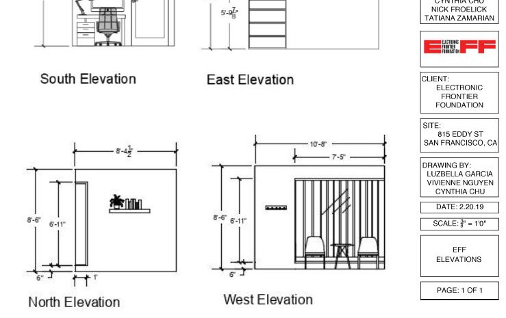 Elevations of new offices.