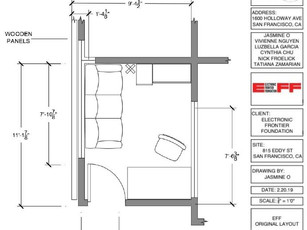 Floorplan of office prior to any changes.