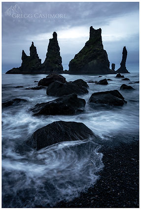 Vik, Black Sand Beach, Iceland.