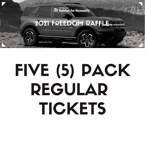 5 pack 2021 Freedom Raffle Ticket