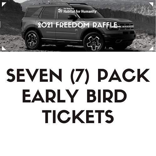 7 pack 2021 Freedom Raffle Ticket