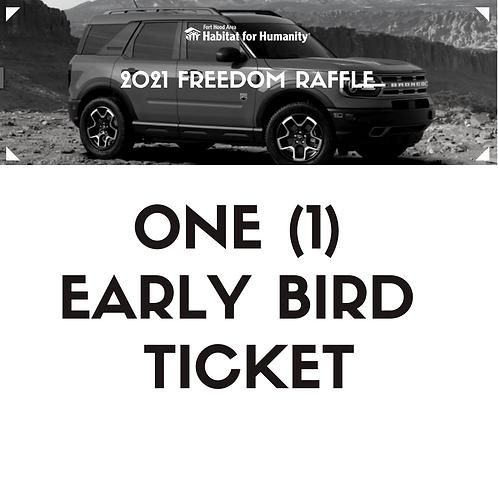 2021 Early Bird Freedom Raffle Ticket
