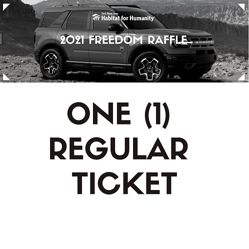 2021 Freedom Raffle Ticket