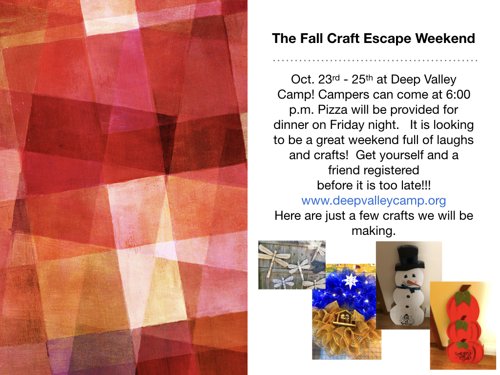 Fall Craft Retreat Weekend