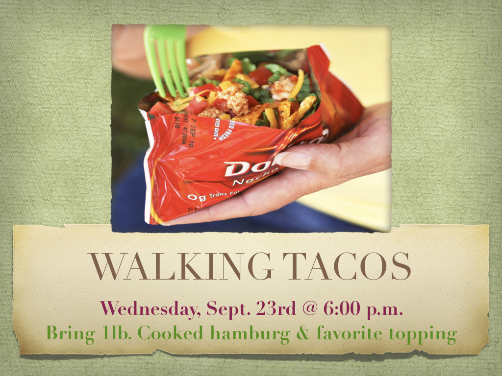 Walking Taco Wednesday!