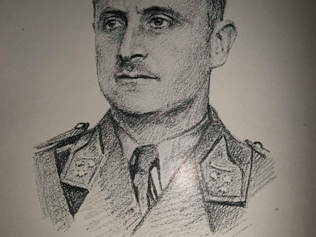 Een gedenkplaat voor kapitein-commandant Pierre-Franz De Coene (1896-1944).