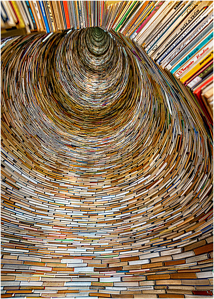 'Book Tunnel' by Brendan Hinds (11 marks)