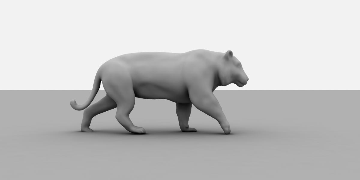 модель тигра