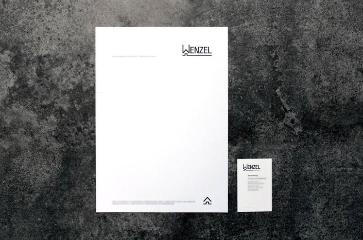 Briefpapier - Visitenkarte - Wenzel
