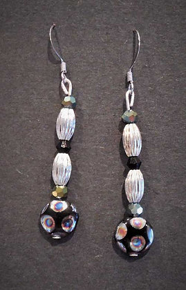 White Accent Earrings