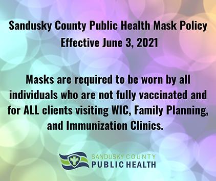 Sandusky County Public Health Mask Polic