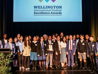 "Alex won ""Domestic Student- International Student Champion Award Category"""