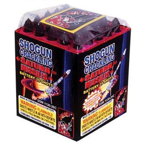 (4) Pack 25 Shot Crackling Saturn Missiles