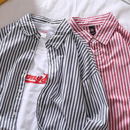 カジュアルストライプシャツ JY2019100709