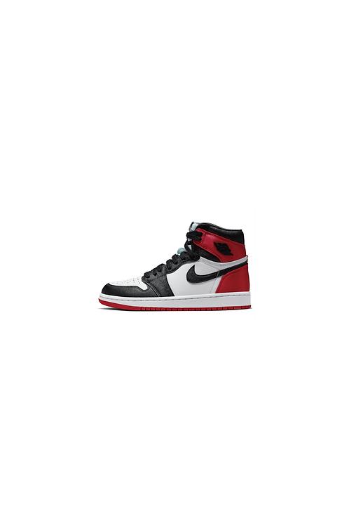 Nike Air Jordan 1 Retro High Satin Black Toe Womens CD0461-016