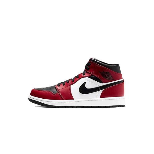 Nike Air Jordan 1 Mid Chicago Black Toe 554724-069