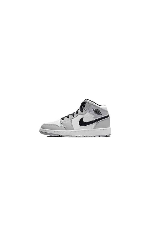 Nike Air Jordan 1 Mid Light Smoke Grey (GS) 554725-092
