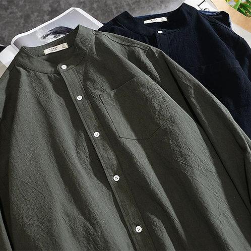 ノーカラーシャツ JY2019100708
