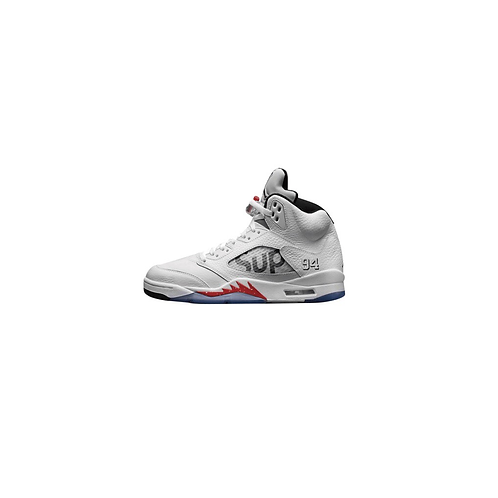 Nike Air Jordan 5 Retro Supreme White 824371-101