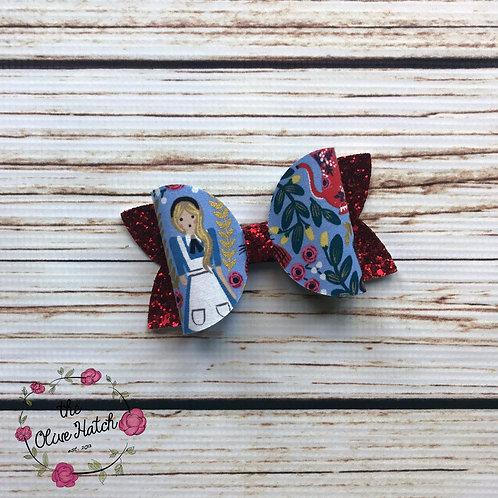 Alice Glitter Bow - Olive Single Stack