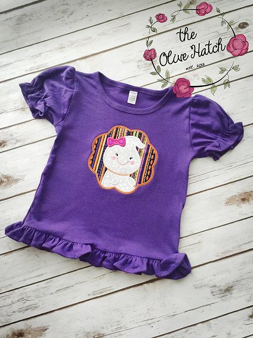 Ghost Girl Applique Shirt