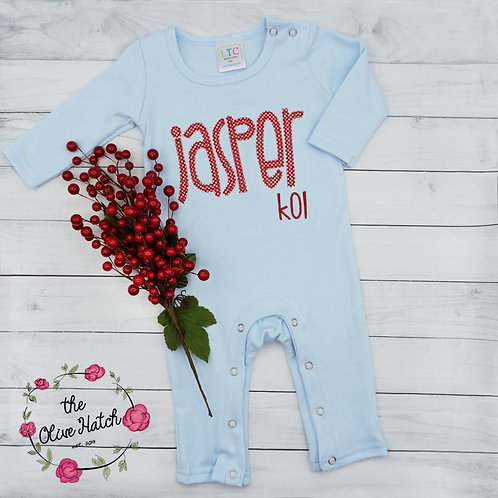 Personalized Romper-- Applique
