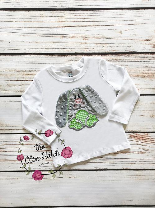 Floppy Ear Bunny Shirt / OnePiece -- Applique