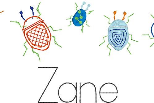 Bug Design -- Embroidery
