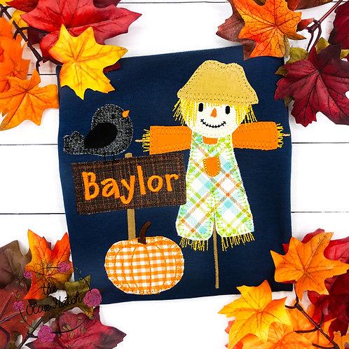 Scarecrow Applique Shirt