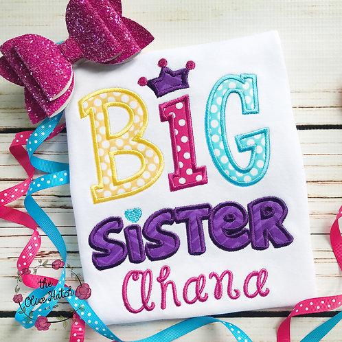 Big Sister Princess Design -- Applique
