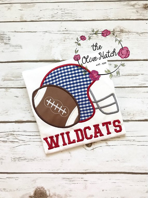 Blue and Red Football -- Applique