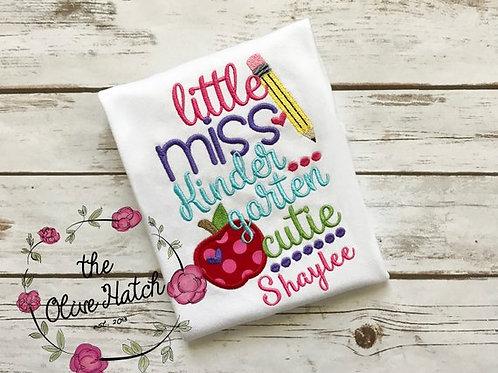 Little Miss Kindergarten Cutie