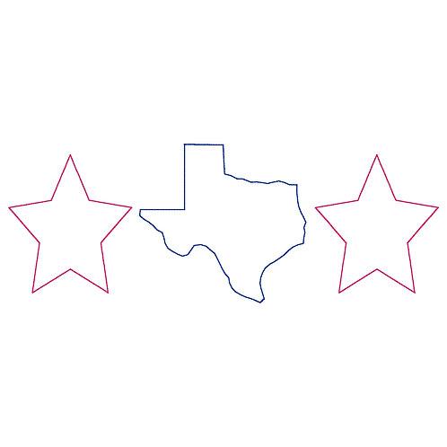Texas Trio APPLIQUE Design